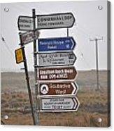 Ireland Road Sign 1 Acrylic Print