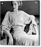 Irene Hervey, 1933 Acrylic Print