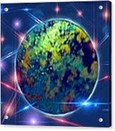 Iridescent Moon Acrylic Print