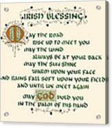 Irish Blessing Acrylic Print