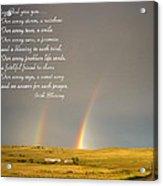 Irish Blessing Double Rainbow 07 11 14 Acrylic Print