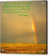 Irish Blessing Rain On The Prairie Acrylic Print