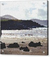 Irish Coast Pastel Chalk Acrylic Print