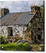 Irish Cottage Ruins Acrylic Print