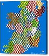 Irish County Gaa Flags Acrylic Print