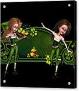 Irish dancers ii Acrylic Print