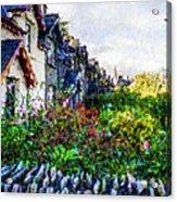Irish Garden Water Color Acrylic Print