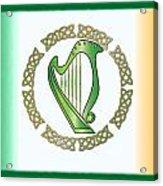 Irish Harp Acrylic Print