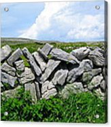 Irish Stone Wall Acrylic Print