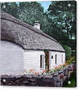 Irish Thatched Cottage Acrylic Print