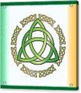 Irish Triquetra Acrylic Print