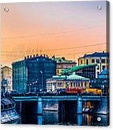 Iron Bridge Panorama Acrylic Print