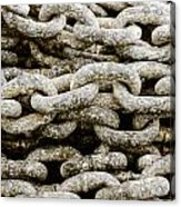Iron Chains. Acrylic Print by Slavica Koceva