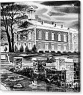 Iron County Courthouse IIi - Bw Acrylic Print