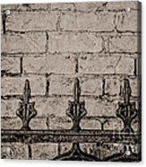 Iron Fence - New Orleans Acrylic Print