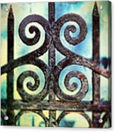 Iron Gate Detail Acrylic Print