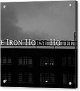 Iron Ho-ho  Black And White Acrylic Print