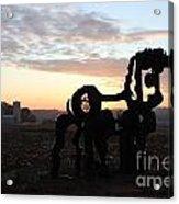 Iron Horse Keeping Watch Acrylic Print