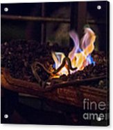 Iron In Fire Oiltreatment Acrylic Print