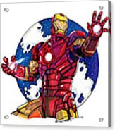 Iron Man Acrylic Print by Dave Olsen