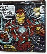 Iron Man Graffiti Acrylic Print