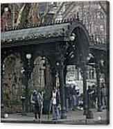 Iron Pergola Pioneer Square Acrylic Print