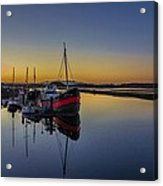 Irvine Harbour Scotland At Dusk Acrylic Print