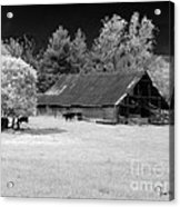 Irving College Barn Acrylic Print by   Joe Beasley