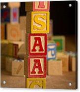 Isaac - Alphabet Blocks Acrylic Print