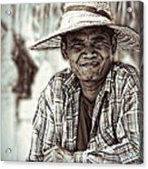 Isaan Rice Farmer Acrylic Print