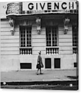 Isabel O'donnell In Front Of Givenchy Acrylic Print