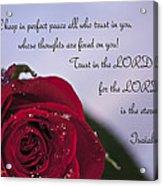 Isaiah 26 3 4 Acrylic Print