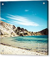 Isla Del Sol On The Titicaca Lake Acrylic Print