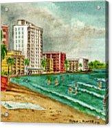 Isla Verde Beach San Juan Puerto Rico Acrylic Print