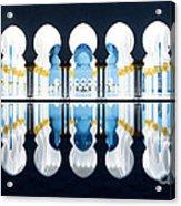 Islamic Architecture Of Abu Dhabi Grand Mosque - Uae Acrylic Print