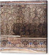 Islamic Geometrical Design On The Underside Of The Roof Of The Umar Hayat Mahal Acrylic Print