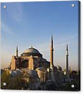 Islamic Mosque At Sunset Istanbul Acrylic Print by Mark Thomas