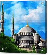 Islamic Mosque Acrylic Print by Catf