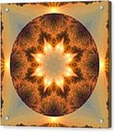 Island Beach Sunset Mandala Acrylic Print