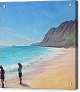 Island Breeze Acrylic Print by Gwen Carroll