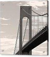 Island Bridge Bw Acrylic Print