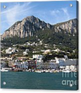 Island Capri Panoramic Sea View Acrylic Print by Kiril Stanchev