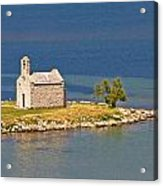 Island Church By The Sea Acrylic Print by Brch Photography