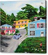 Island Hillside Living Acrylic Print