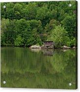 Island House On New River - West Virginia Acrylic Print