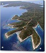 island Hvar from air Acrylic Print