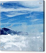 Island In The Clouds Acrylic Print