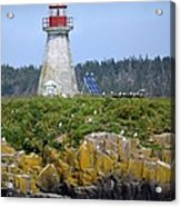 Island Lighthouse In Nova Scotia Acrylic Print