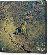 Island Of Fall Color Acrylic Print