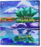 Island On The Lake Acrylic Print